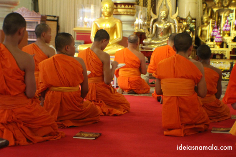 templo Wat Pra Singh em Ching Mai na Tailandia