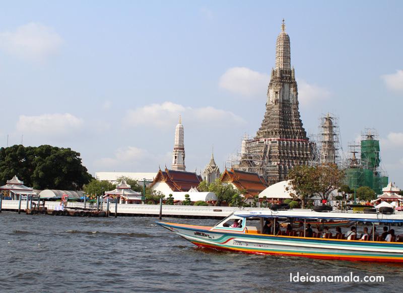 Passeio de barco pelo Rio chao phraya