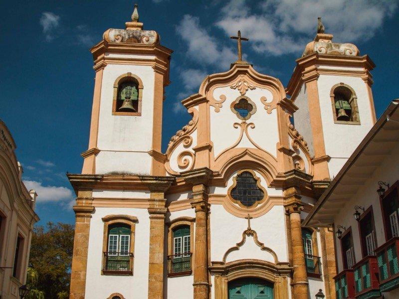 Fachada da Basílica de Nossa Senhora do Pilar
