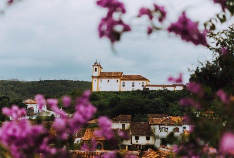 Vista construção em Ouro Preto