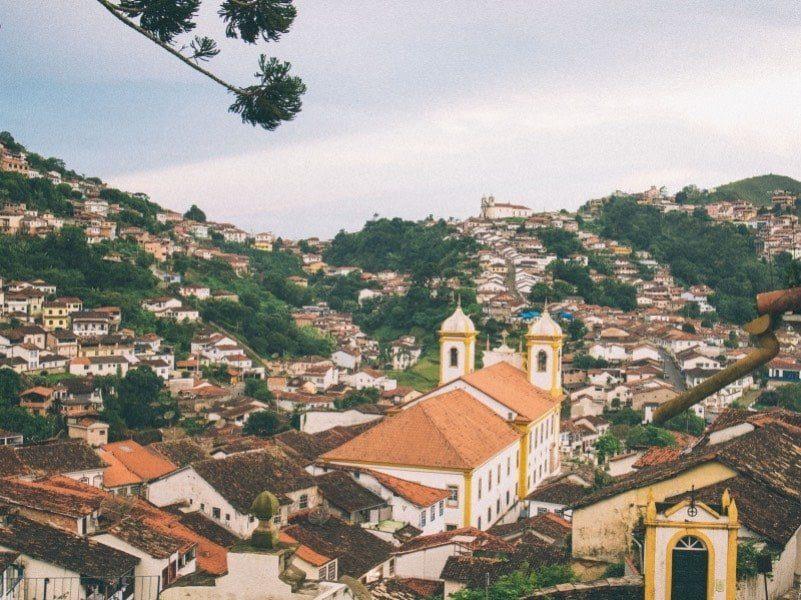 Vista área de Ouro Preto