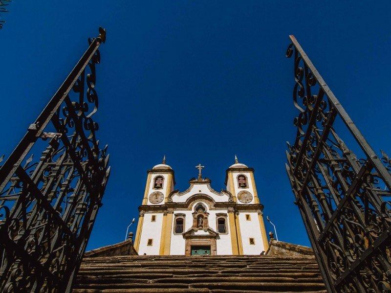 Fachada da Igreja da Santa Efigênia