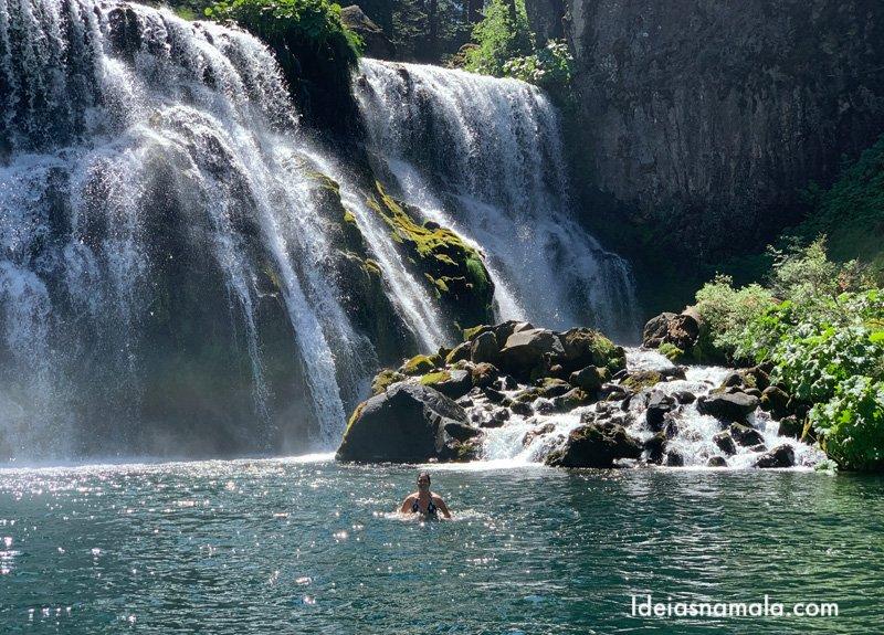 Middle McCloud Falls em o que fazer em Mt Shasta