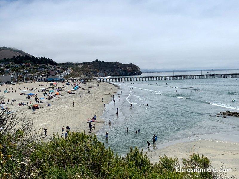 Praia de Avila Beach na Califórnia
