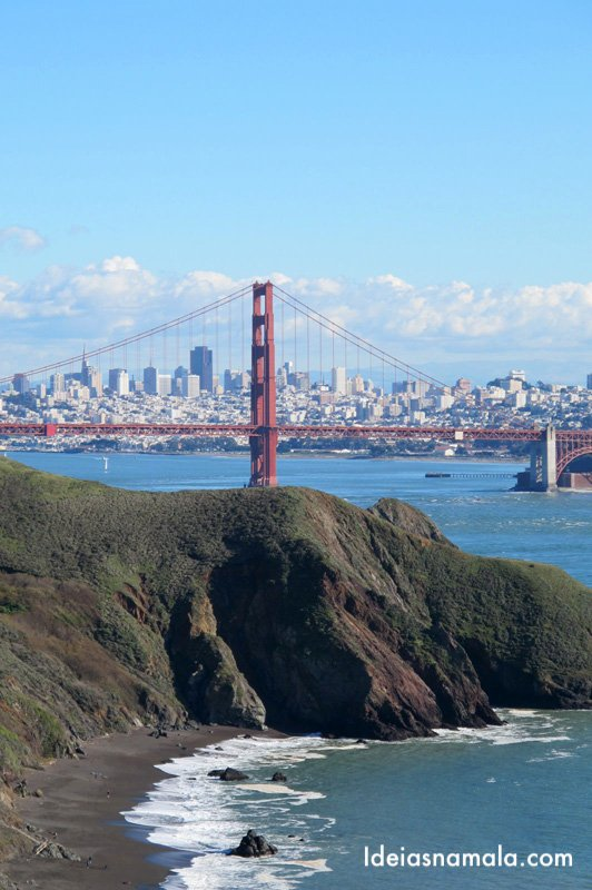 Golden Gate Bridge vista de Marin Headlands