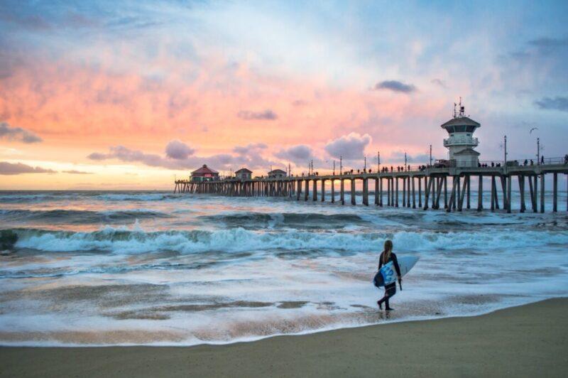 onde surfar na california