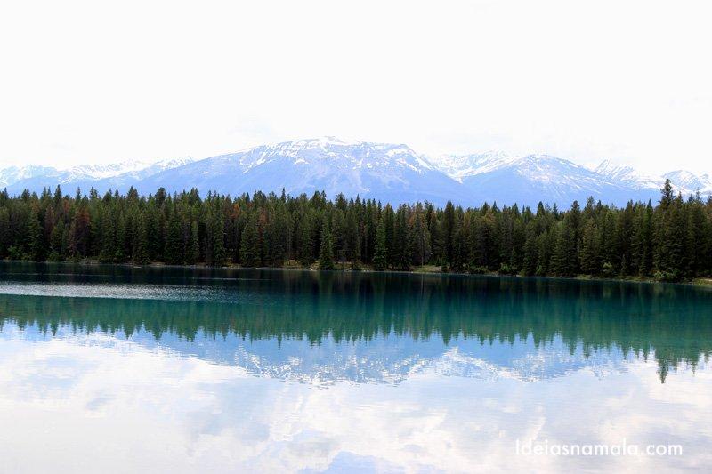 Lake Edith, um dos mais lindos de Jasper no canadá
