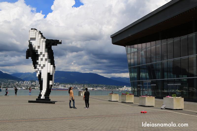 Escultura de Orca no Canada place em o que fazer em Vancouver
