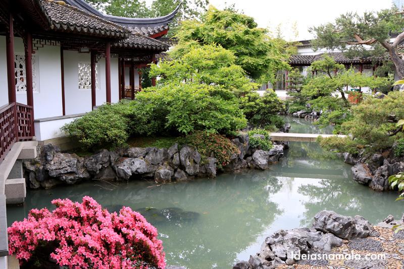 Jardim chinês Dr. Sun Yat-Sen , um dos destaques da Chinatown de Vancouver