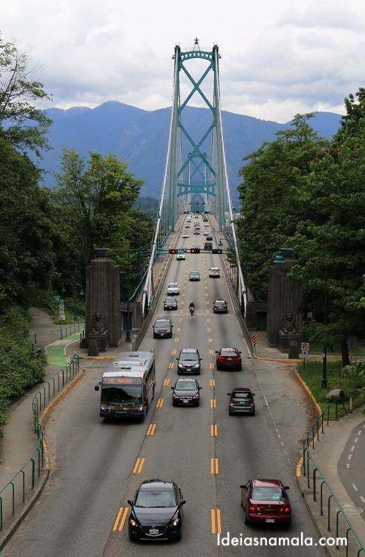 Lions Gate, a ponte de Vancouver vista do observatório do Stanley Park