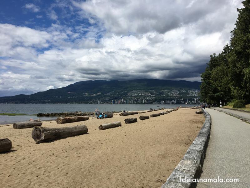 Praia no Stanley Park em Vancouver