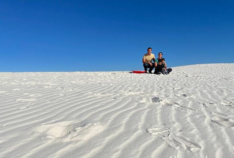 Dunas de areia branca do White Sands National Park
