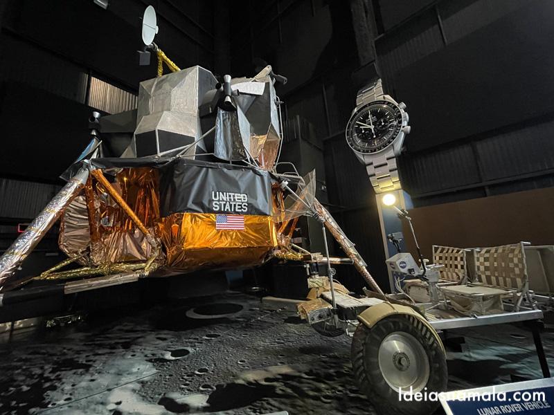 Réplica do veiculo lunar no Centro Espacial de Huntsville