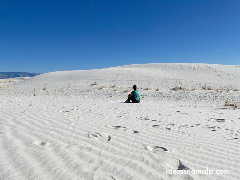 Tirar fotos no White Sands National Park