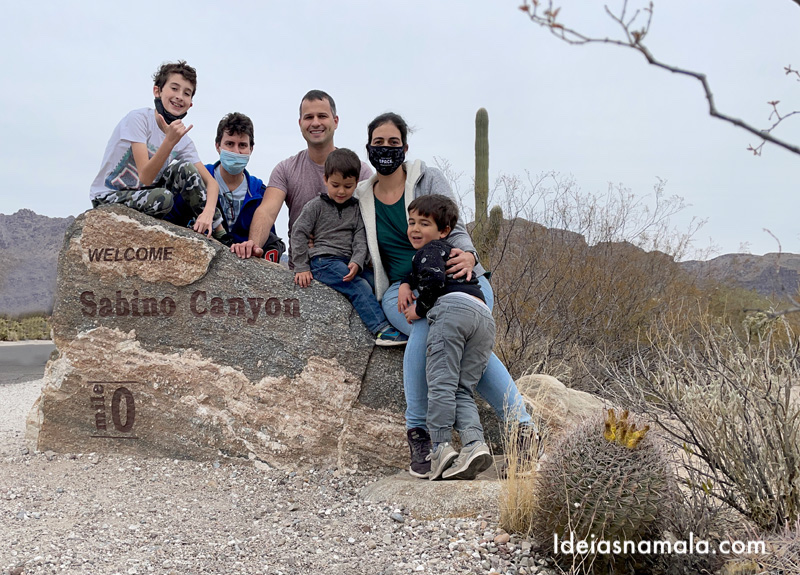 Passeio em Sabino Canyon em Tucson