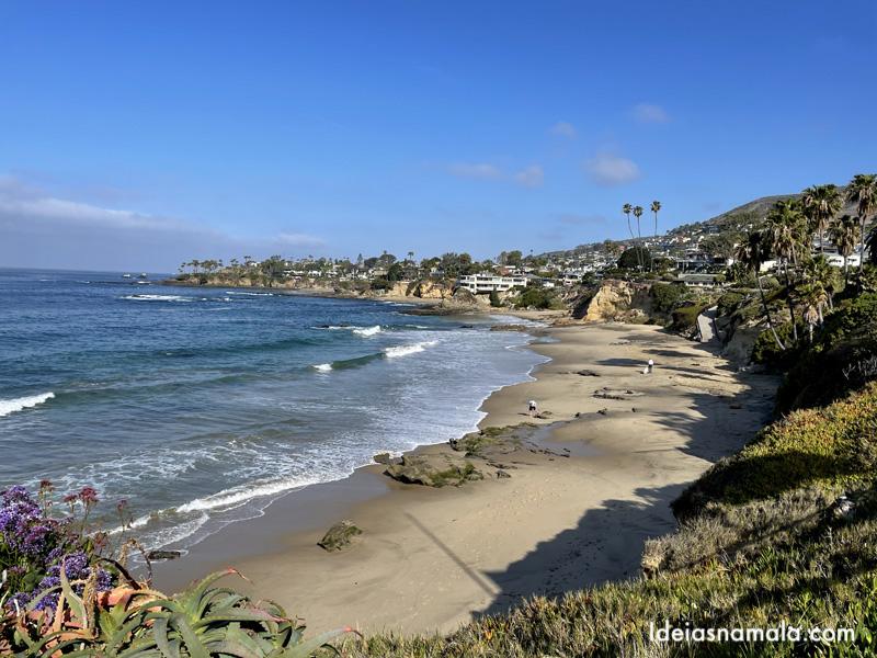 Praia do Hesiler Park em Laguna Beach