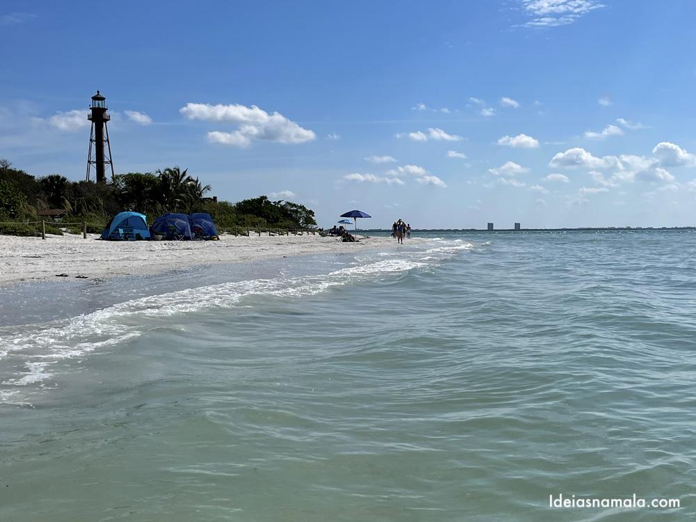 Lighthouse Beach em Sanibel na Flórida