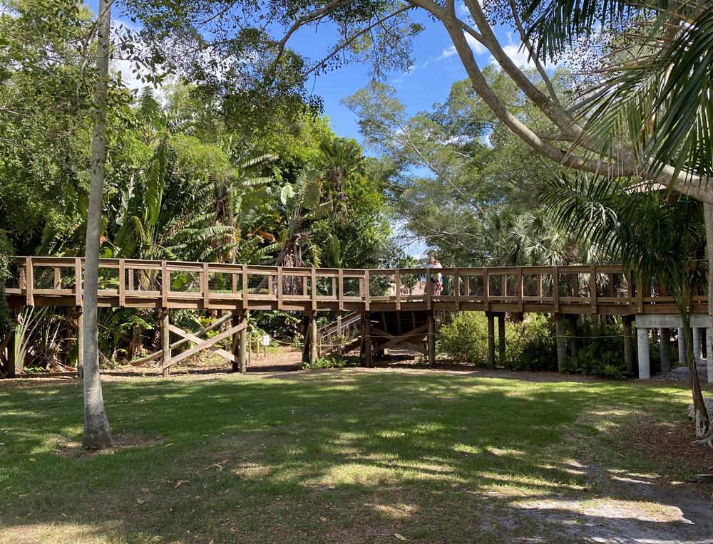 Entrada norte da Robinson preserve e acesso ao The Nest