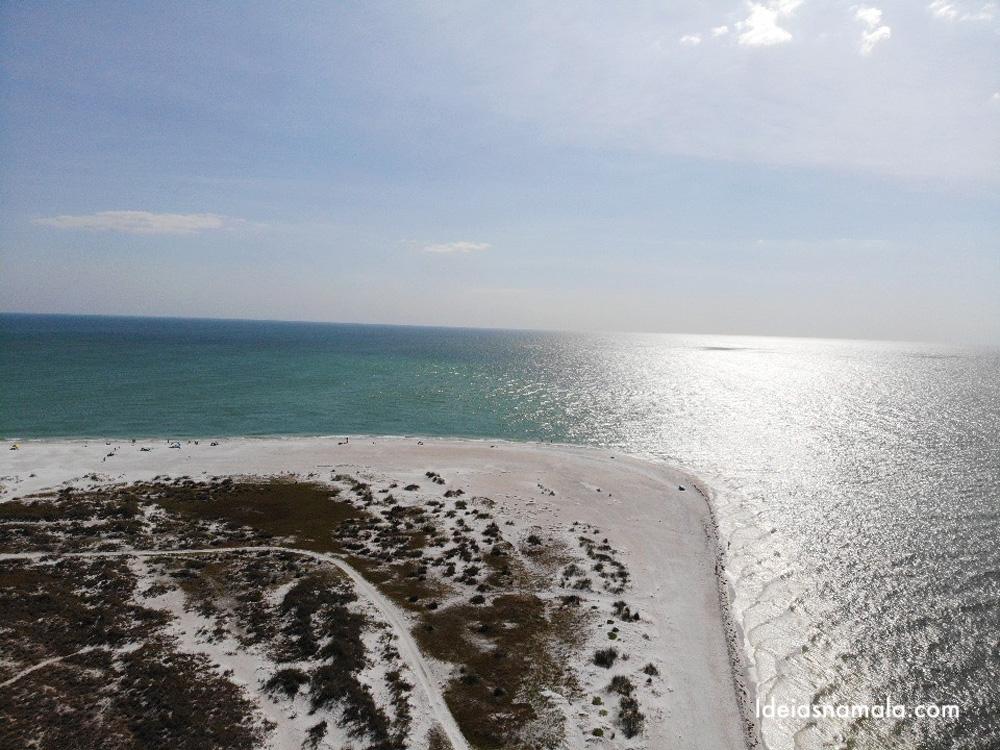 Bean Point Beach vista do alto